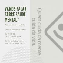 Roda de Conversa: Vamos falar sobre saúde mental?